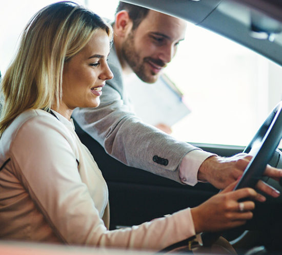 Woman looking to buy a car to promote Howard Insurance Brokers - Commercial Motor Insurance